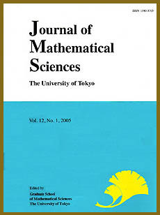 J. Math. Sci. Univ. Tokyo
